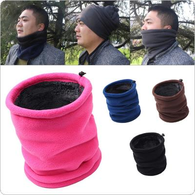 Outdoor Multifunctional Scarf Thermal Double Layers Polar Fleece Winter Warm Fleece Snood Neck Warmer Ski Hat