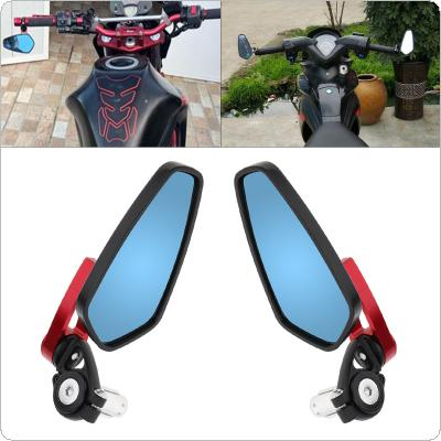 Motorcycle CNC Handle Reflector Motorcycle Bar End Mirrors Rear Fit for Street Car / Scooter
