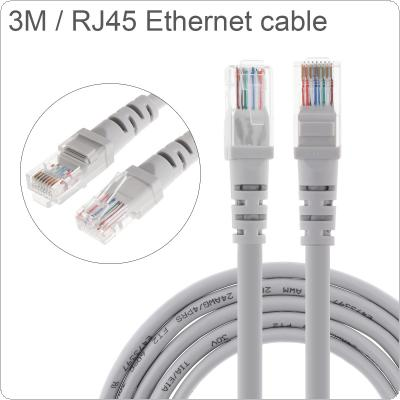 DiGiYes 3M/9.84Ft CAT6 Pure Copper Ethernet Cable High Speed 8P8C Round Wire RJ45 Network LAN Cable for Computer Router / Modem / Interchanger