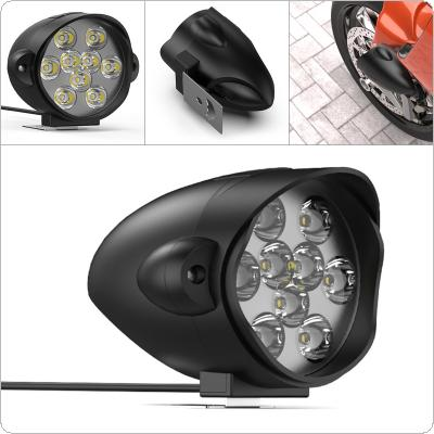 9LED Electric Motorcycle Modified Headlights Shark Super Bright External Lights Glare Lights Scooters Spotlight