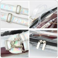 Transparent Acoustic Guitar Bag Double Straps Gig Case Waterproof Backpack for 39 / 40 / 41 Inch Acoustic Guitar