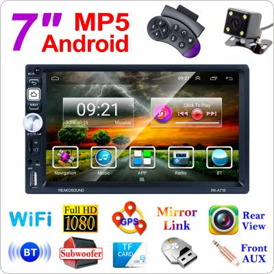 2 DIN 7 Inch QUAD core Android 8.1 Bluetooth HD Touch Screen Car MP5 GPS Player Support USB / AM / FM / RDS / Mirror Link / WIFI