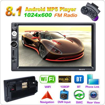 2 DIN 7 Inch QUAD core Android 8.1 Bluetooth HD Touch Screen Car MP5 GPS Player Support FM / USB / SD / WIFI / Mirror Link