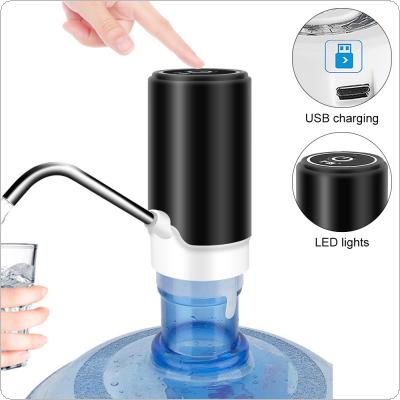 Portable Mini Push-button  Wireless Rechargeable Electric Dispenser Water Pump with USB Cable and 304 Stainless Steel Tube for 4.5L - 18.9L Barrelled