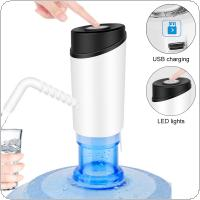 Portable Mini Push Button Wireless Rechargeable Electric Dispenser Water Pump with USB Cable and ABS Outlet Pipe for 4.5L - 18.9L Barrelled