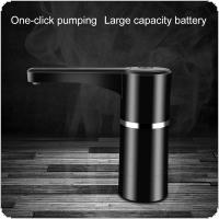 Portable Push Button Wireless Rechargeable Electric Dispenser Water Pump with USB Cable and Silicone Hose for 4.5L - 18.9L Barrelled
