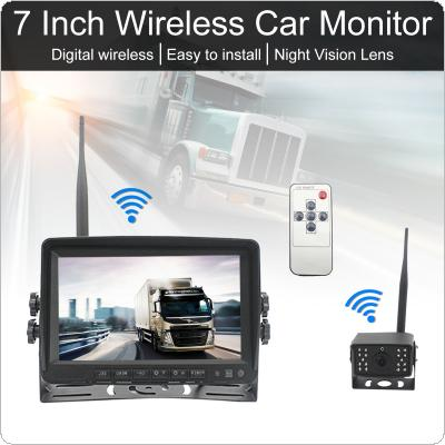 5 Inch Digital Wireless Backup Camera Rear View Camera System  TFT LCD Vehicle Rear View Monitor + 18IR LED Night Vision Waterproof Camera