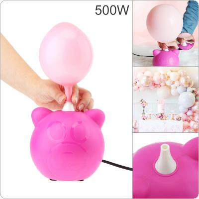 BOROSINO 500W 50HZ Pink ABS Portable  Electric Balloon Pump Wedding Party Decoration Tools
