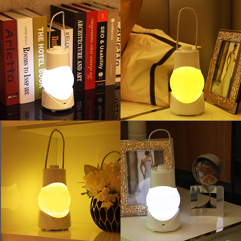 0.9W Dimmable Timer Baby Night Light Music Box Portable LED Lamp Kids Bedside Lighting White / Warm Yellow USB Plug for Breastfeeding / Sleep Assisting