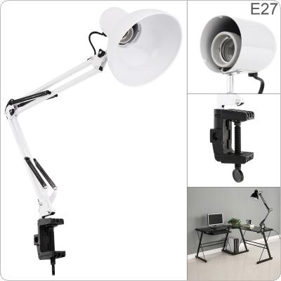 Led Iron Long Arm Folding Clip Eye Protection and Light Mending Table Lamp for Study / Office Work / Bedroom / Bedside / Gift