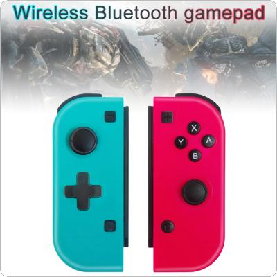 Left and Right Controller Wireless Bluetooth Game Handle with Built Gyroscope + Vibration Motor + Color Case + One Key Connection Fit for Switch Console