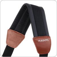 Genuine Leather Double Shoulder Saxophone Strap with Steel Hook for Alto Tenor Soprano Sax