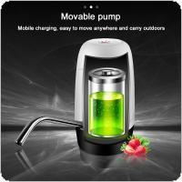 Portable Mini Push Button Wireless Rechargeable Electric Dispenser Water Pump with USB Cable and 304 Stainless Steel Tube for 4.5L - 18.9L Barrelled