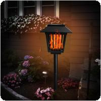 96 LED Waterproof Flickering Flame Solar Torch Light Landscape Decoration Light with Light Sense and Second Gear On / Off for Courtyard / Garden / Balcony