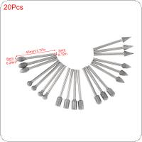20pcs/set Diamond Grinding Head Precision Engraving 3mm Shank Diameter for Electric Grinding Head Grinding Tool