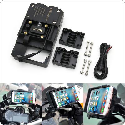 Motorcycle Mobile Phone USB Charging Holder Adjustable Waterproof Navigation Bracket Fit for BMW R1200GS