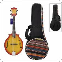 National Style Mandolin Backpack Knitted Double Straps Pad Cotton Thickening Soft Gig Case