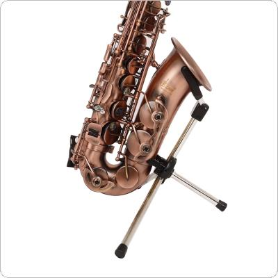 Foldable Alto Tenor Soprano Saxophone Stand Stainless Portable Sax Tripod Holder