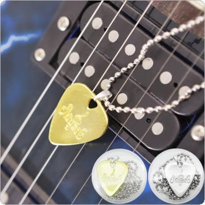 Guitar Picks Necklace Chain Plectrum Plucked String Instrument Accessories Gold & Sliver Color Optional