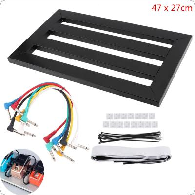 47 x 27cm Guitar Pedal Board Setup Style DIY Guitar Effect Pedalboard with 6pcs 22cm Patch Cable