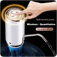Two Kinds Portable Push Button Wireless Rechargeable Electric Intelligent Water Pump with USB Cable / 304 Stainless Steel Tube for 4.5L - 18.9L Barrelled