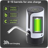 Two Kinds Portable Touch Button Rechargeable Electric Intelligent Water Pump with USB Cable and 304 Stainless Steel Tube for 4.5L - 18.9L Barrelled Water