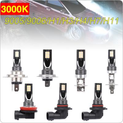 2pcs H11 / H8 / 9005 / 9006  / H1 / H3 / H7 SMD Lights 1200LM 3000K Golden Light Driving Running Car Lamp Auto Light Bulbs