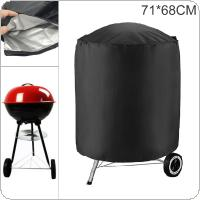 71 x 68cm / 71 x 70cm 210D Oxford Fabric Black Round Waterproof Dustproof  Outdoor Garden BBQ Grill Fire Pit  Cover