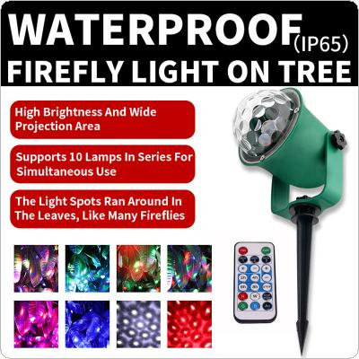 WL-806 Waterproof Green Tree Light with Remote Control Firefly Effect Decorative Outdoor Lighting Landscape Spotlights for Wedding / Birthday / Christmas
