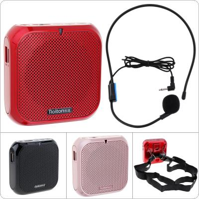 Rolton K400 3 Colors Portable Wired Mini Audio Speaker Megaphone Voice Amplifier Loudspeaker Microphone Waist Band Clip Support FM Radio TF MP3 Player