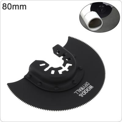 80mm Black 65 Manganese Steel Saw Blade Power Tool Accessories with Sharp Tooth Fit for Wood Cutting / Sheet Grinding / PVC Cutting / Nail Cutting