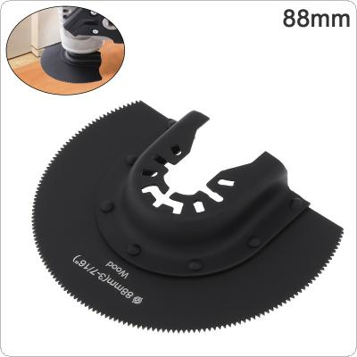 88mm Black 65 Manganese Steel Saw Blade Power Tool Accessories with Sharp Tooth Fit for Wood Cutting / Sheet Grinding / PVC Cutting / Nail Cutting