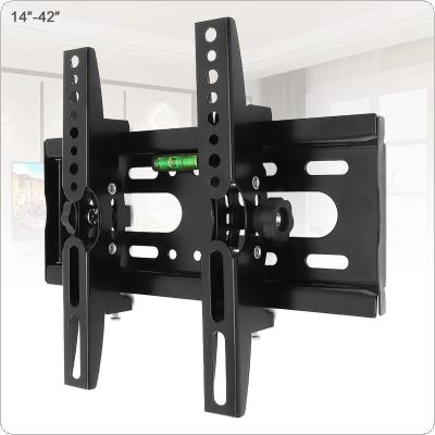 Universal 25KG Adjustable TV Wall Mount Bracket Flat Panel TV Frame Support 15 Degrees Tilt with Level for 14 - 42 Inch LCD LED Monitor