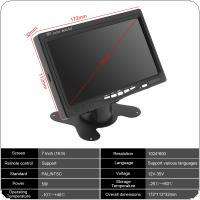 7 Inch 16:9 HD 1024*600 TFT LCD Color Car Rear View Monitor 2 Video Input DVD VCD Headrest Vehicle Monitor Support Audio Video HDMI VGA