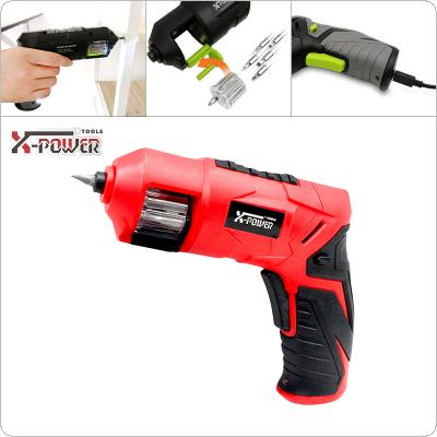 Power Tool 3.6V Lithium Rechargeable Mini Electric Drill with 6pcs Accessories for Furniture Installation / Screwing / Corner Repair / Wood Punching