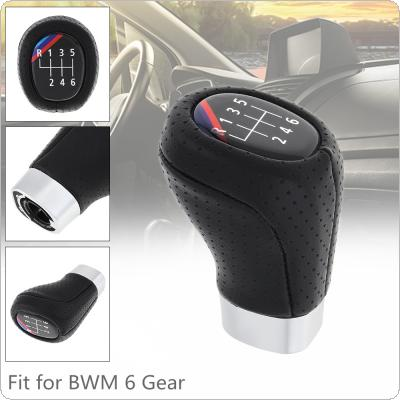 6 Speed ABS + Leather Black Car Manual Gear Shift Handball Knob Car Accessories Fit for BMW 1 3 Series E81 E82 E87 E88 E90 E91 E92 E93 / 6 Gear Models
