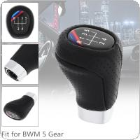 5 Speed ABS + Leather Black Car Manual Gear Shift Handball Knob Car Accessories Fit for BMW 1 3 Series E81 E82 E87 E88 E90 E91 E92 E93 / 5 Gear Models