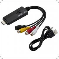 1080P HD HDMI to AV RCA Converter Adapter Cable STB to Old TV