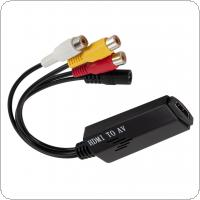 1080P Short HDMI to RCA Converter Adapter Cable for TV / VHS / VCR / DVD Recorders