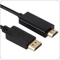 3M/10Ft Display Port to HDMI Cable Cord DP to HDMI Cable Adapter Gold Plated HD