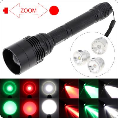 C11 48MM Lens 300-1300 LM Portable Flashlight  LED Torch Flashlight White / Red / Green Light Color for Hunting / Outdoor Cycling / Camping / Going On Patrol