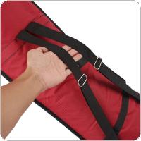 Portable Oxford Cloth Tenor Trombone Backpack Add Sponge Instrument Bag Waterproof Blue / Red / Black