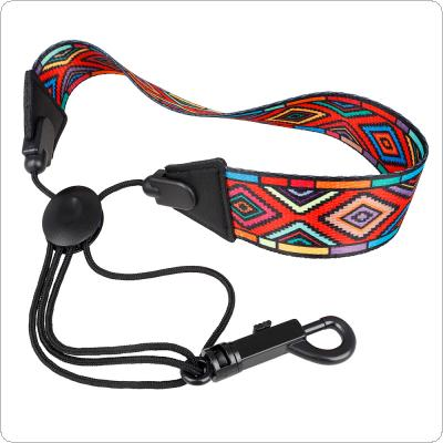Red Diamond Pattern Colored Polyester Saxophone Neck Strap Shoulder Strap for Alto / Soprano / Tenor Saxophone