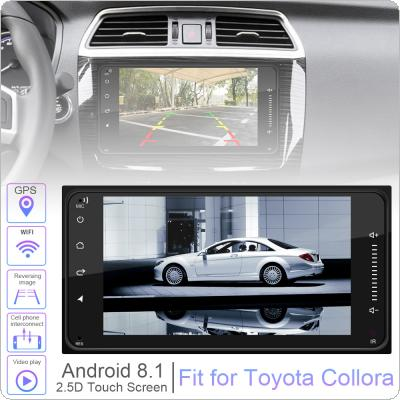 2 DIN 7 Inch Android 8.1 HD Capacitive Touch Screen Bluetooth Car MP5 Player Support  DVR / Mirror Link / FM Function / Car Life Fit for Toyota