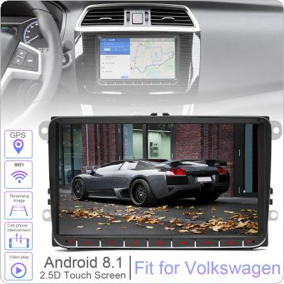 2 DIN 9 Inch QUAD core Android 8.1 Car MP5 GPS Navi Player Support Bluetooth / FM / Phone Link / WIFI / Car Life Fit for Volkswagen VW