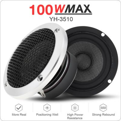 2pcs 3.5 Inch Audio Sound Speaker Set Pure Midrange Auto Three Frequency Modified Speakers Loudspeaker DIY Sound System