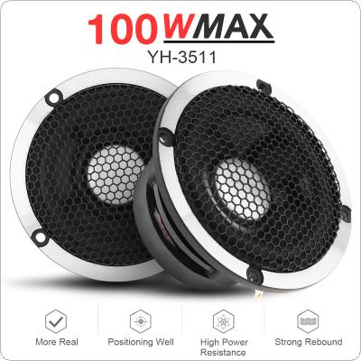 2pcs 3.5 Inch 100W High Efficiency Medium Tweeter with Treble Cup Full Range Frequency for Car Audio System