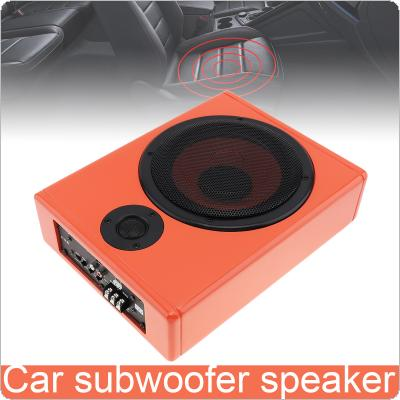 8 Inch 600W Universal Orange Fuselage Slim Under Car Seat Active Subwoofer Low Distortion Amplifier Stereo Speaker