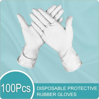100pcs Disposable Latex Gloves Dish Washing/Kitchen/Garden Gloves Universal Home Cleaning Rubber Gloves