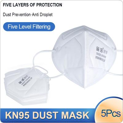 5 Pcs/Lot KN95 Dust-proof Face Masks 95% Filtration Anti-fog 5-layer PM2.5 Filter Protective Mask Features as KF94 FFP2